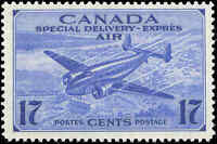 Canada Mint NH F+ Scott #CE2 1943 17c Air Mail Special Delivery Stamp