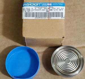 ASHCROFT 20320SX02T DIAPHRAGM SEAL NEW IN BOX FAST SHIPPING 1/4 NPT 316 ST. nos