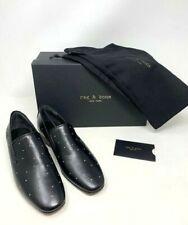 NIB $450 Rag & Bone Tate Black Studded Leather Loafers US 9.5 EUR 39.5