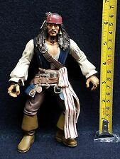 "Pirates of the Carribean - Disney - CAPTAIN JACK SPARROW  (Depp) - 6.5"" Figure @"