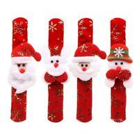 10pcs Non-woven Christmas Slap Bracelet Xmas Wristband Pat Hand Party Favors