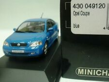 WOW EXTREMELY RARE Opel Astra G Coupe 2.0L Turbo 2000 Riv Blue 1:43 Minichamps