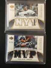 2006 Upper Deck Exquisite Derek Jeter Prime Triple Patch Yankees /25 Jersey lot