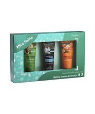 FACE MASK SET for oily skin Vegetable coal sugar, Orange yogurt, Pomelo papaya