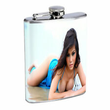 Argentina Pin Up Girls D15 Flask 8oz Stainless Steel Hip Drinking Whiskey