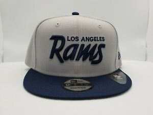 NEW ERA 9FIFTY SNAPBACK HAT.  NFL.  LOS ANGELES RAMS.  GRAY.
