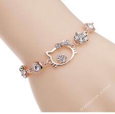 Hello Kitty GOLD Armband Armkette Schutzengel Glücksbringer Schmuck  LA FERANI