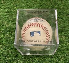 Justin Verlander Houston Astros Game Used Strikeout Baseball 2019 MLB Auth