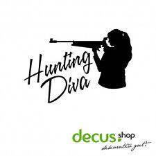 Hunting diva // sticker JDM pegatinas parabrisas