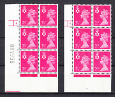 Northern Ireland - Harrison - 21/2p Magenta - Cyl 4 Dot & No Dot x 6 Mnh