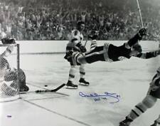 Bruins Bobby Orr 'HOF 79' Signed Authentic 1970 Stanley Cup 16X20 Photo PSA/DNA