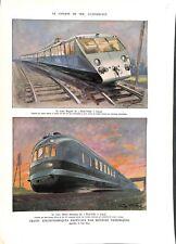 Chemin de fer Train Bugatti ligne Paris-Vichy Train Dièsel ILLUSTRATION 1942