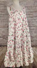 Vintage Victorias Secret Long Cotton Lace Nightgown Floral VTG GOLD LABEL Medium