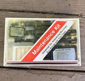 Vintage Answering Machine Maintenance Kit Cassette Tape Box