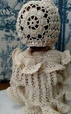 "Crochet pattern for 10"" baby doll Subin, by Carla Carr Australian artist"
