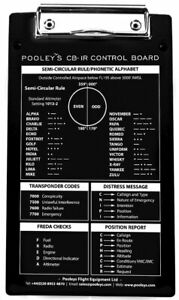 Pooleys CB-1R Pilots Kneeboard *IDEAL FOR COMPACT COCKPITS*