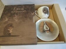 Coffee cup and saucer Russian Imperial bone porcelain Dog