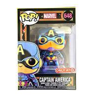 Funko Pop Marvel Black Light Captain America #648 Target Exclusive Vinyl Figure