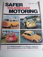 Vintage Illustrated Magazine VOLKSWAGEN SAFER MOTORING April 1981 + Advertising