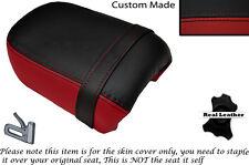 Negro Y Rojo Oscuro Custom Fits Yamaha Virago Xv 250 Trasera de piel cubierta de asiento