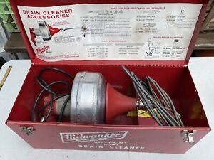 """Milwaukee 0566-1 Heavy-Duty Electric Drain Cleaner 3/8"""" 0-450 RPM 1.6 Amps 120V"""