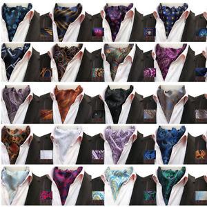 Men's Paisley Floral Cravat Ascot Necktie Gentlemen Ties Wedding Party
