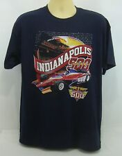 New 2014 Indianapolis 500 All Winners Collector 2-Side Navy Blue T-Shirt Medium