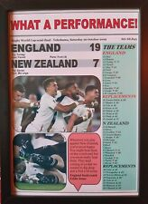 More details for england 19 new zealand 7 - 2019 rugby world cup semi-final - framed print