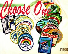Florida Girl Scouts, 36 Different Council Patches Official Choose One, Fl Part 2