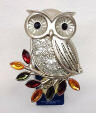 1 Bath & Body Works Wallflower FALL GLITTER OWL NIGHTLIGHT Unit Plug In Holder