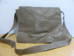 Vivienne Westwood brown leather messenger satchel record bag VGC smart casual