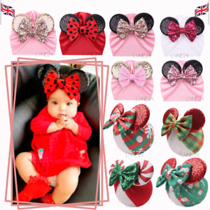 Xmas Nice Winter Baby Kids Warm Hat Girls x Minnie Mouse/Xmas Beanie Cap Hats UK