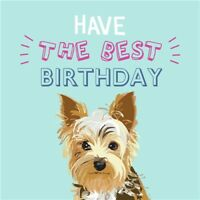 Waggy Tails - Charity Birthday Card - Yorkshire Terrier
