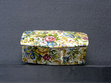 CROWN DEVON CHINTZ TRINKET BOX STAFFORDSHIRE ENGLAND #1612