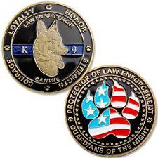 5 (Five) K9 Police Challenge Coins