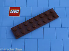LEGO 3034 2x8 PIASTRA BRUNO ROSSASTRO X 3 NUOVO