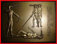 "Poet/Camões/Epic Poem The Lusiads-Canto III/ Death ""Inês de Castro""/Bronze . M8a"