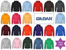 New Plain Blank Gildan Hooded Pullover Hoodie Sweatshirt Hoody 24 Great Colours