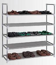 Schuhregal 20 Paar Schuhständer Schuhe Stahl Ablage Regal Stoff 5 Ebenen
