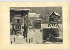 1881 Osservatorio di Greenwich si fotografano la lettura della temperatura Termometri