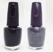 OPI Nail Polish Color Black Onyx + Black Satin T02/T03 .5oz/15mL