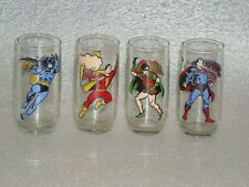 Superman 1978 Rare Round Bottom Batman HTF Glass Super Hero Others Not Included