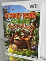 Donkey Kong Country Returns Nintendo Wii Complete w/ Manual & Inserts! NICE!