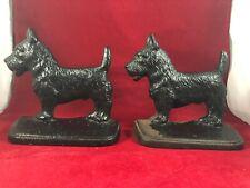 Vintage Cast Iron Scottish Terrier Pair Bookends/Doorstops
