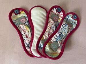 4 x Bloom And Nora Midi Reusable Sanitary Pads