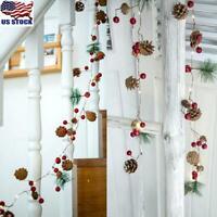 2M 20LEDs LED Pine Cone String Lights Christmas Xmas Decoration Garland Lights