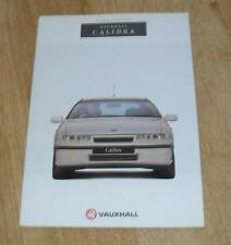 Vauxhall Calibra Brochure 1992 - 2.0 8v - 2.0 16v - 2.0 Turbo 4X4 Coupe