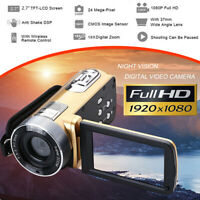 "Mini HD 1080P 24MP 18X 2.7"" Digital DV Camcorder Video Recorder Camera Infrared"