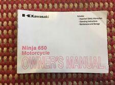 2012 2013 2014 2015 Kawasaki Ninja 650R EX650 OEM Owners Manual Book Booklet