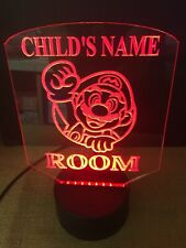 Mario Led Neon Light Sign Multi Color Display Personalized Game Bed Room